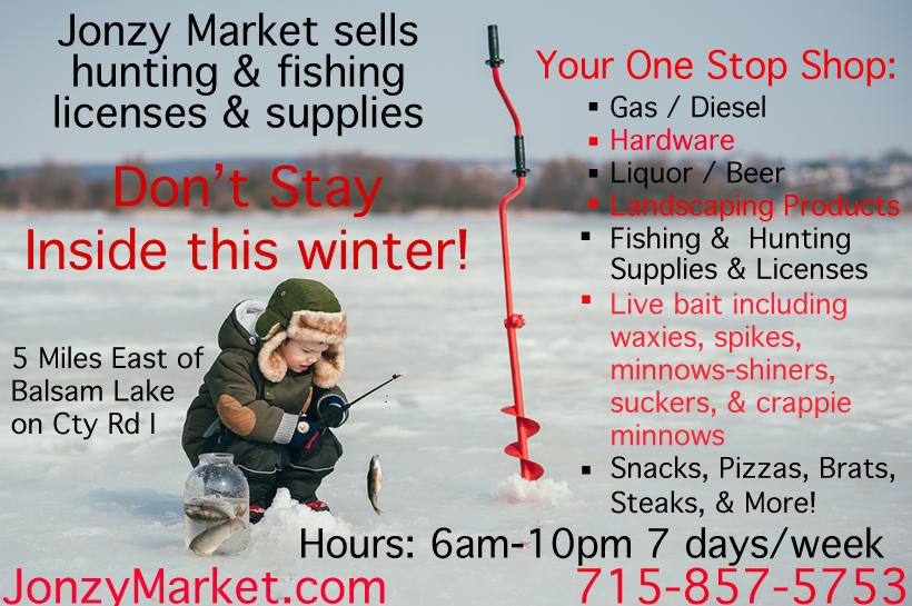 Ice Fishing Supplies Balsam Lake WI